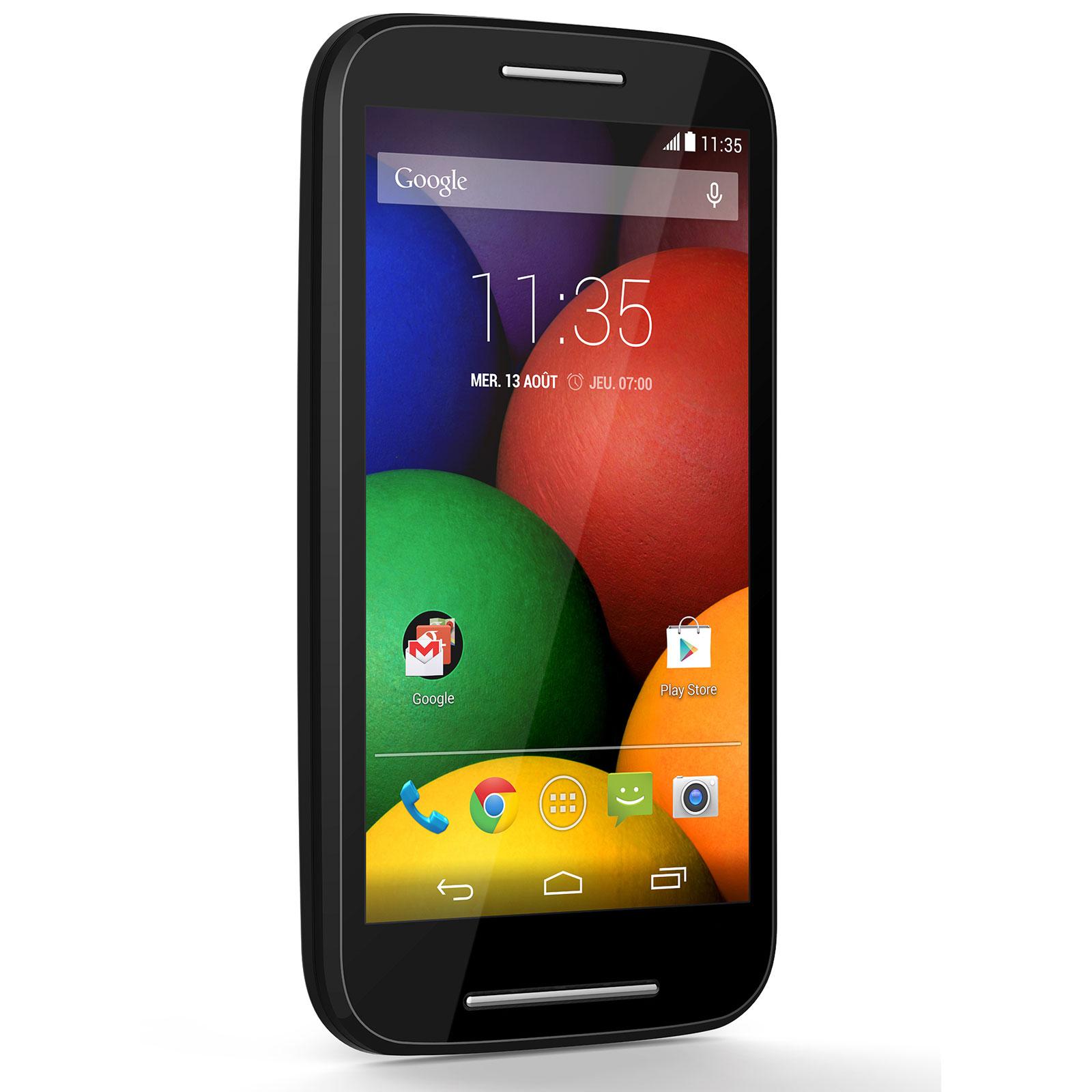 """Mobile & smartphone Motorola Moto E Noir Smartphone 3G+ Dual SIM avec écran tactile 4.3"""" sous Android 4.4"""