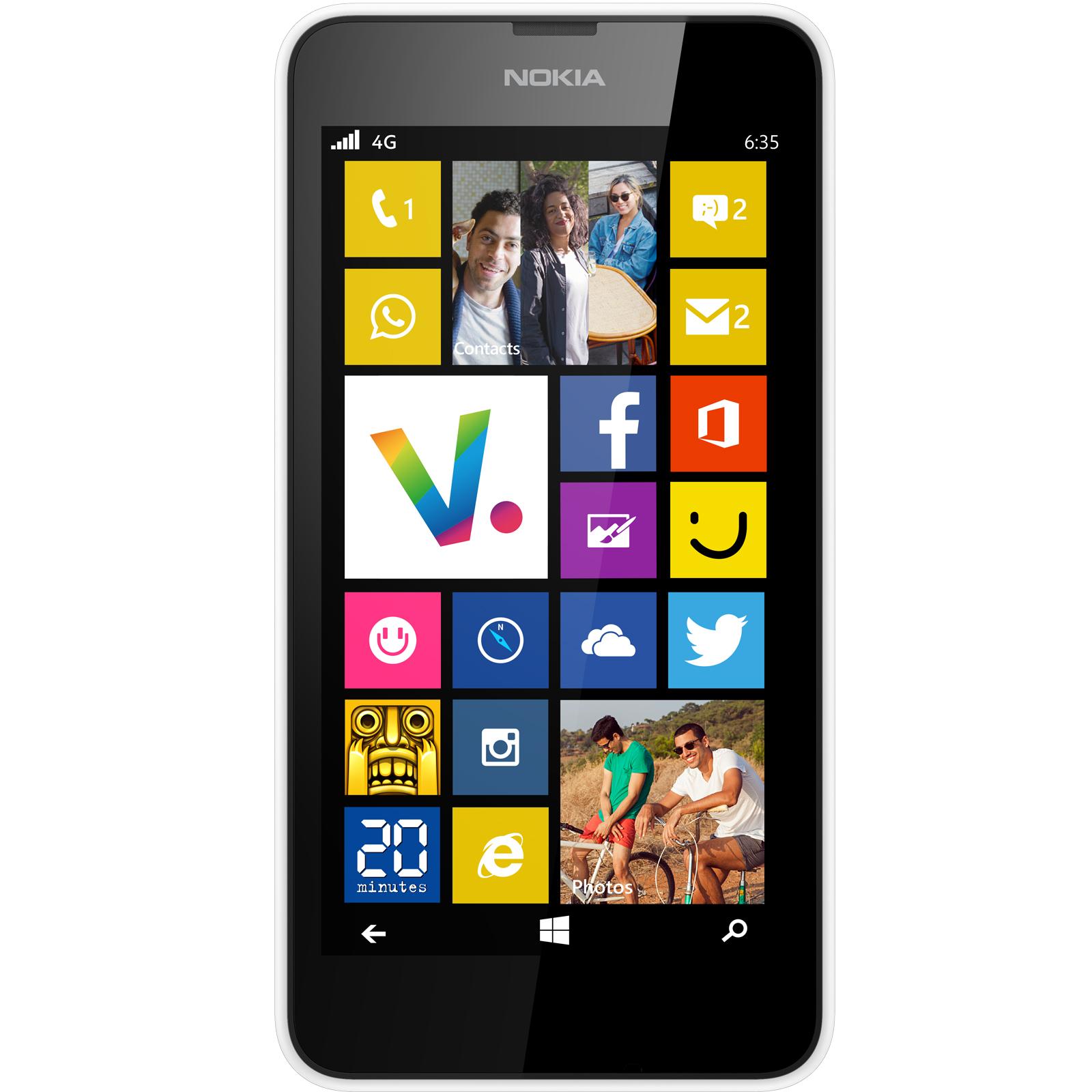 """Mobile & smartphone Nokia Lumia 635 Blanc Smartphone 4G-LTE avec écran tactile 4.5"""" sous Windows Phone 8.1"""