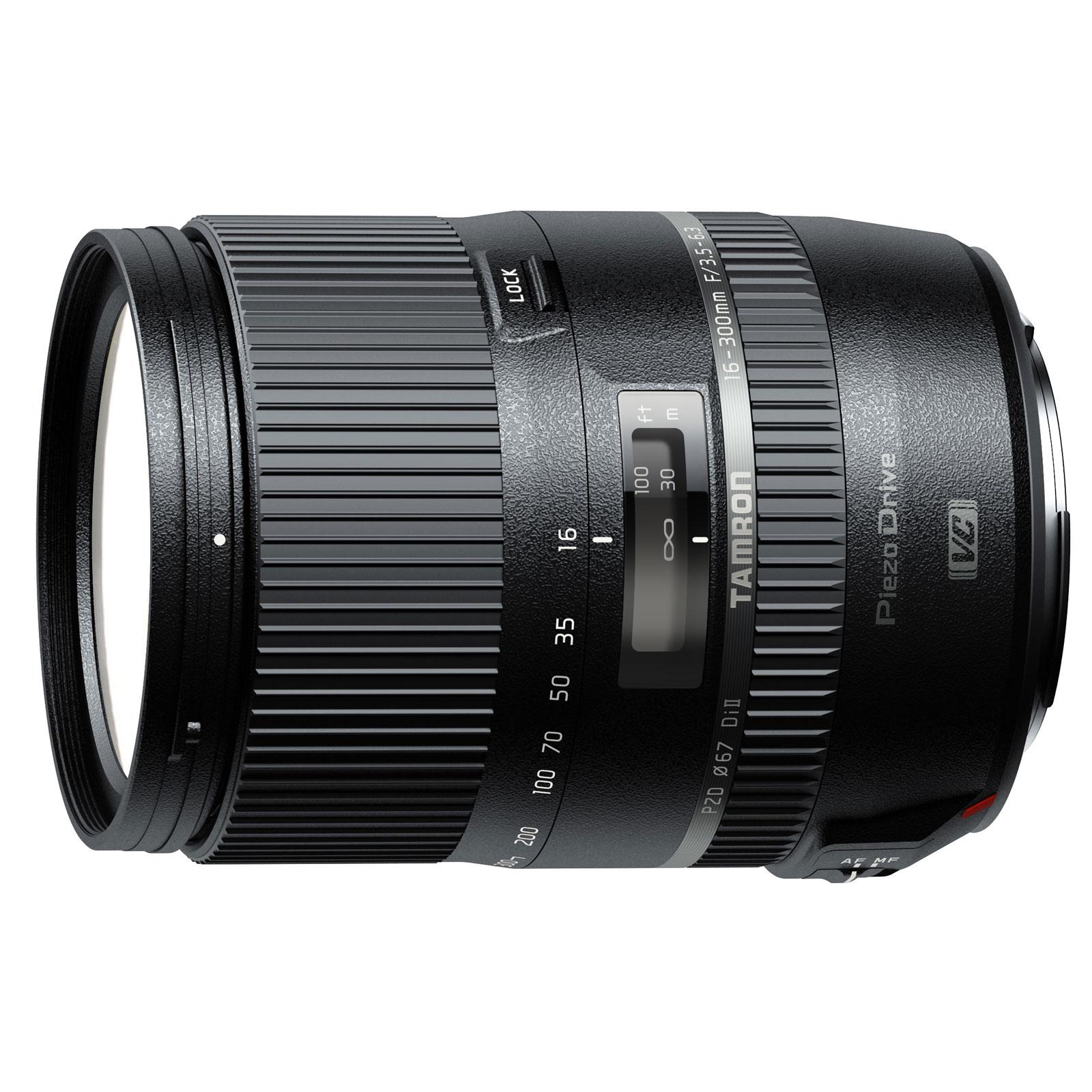Objectif appareil photo Tamron 16-300MM F3.5-6.3 DI II VC PZD Macro monture Nikon Mégazoom stabilisé haute performance
