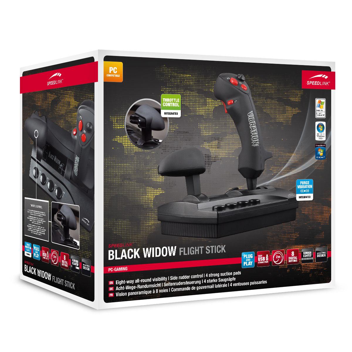 Speedlink Black Widow - Joystick Speed Link sur LDLC