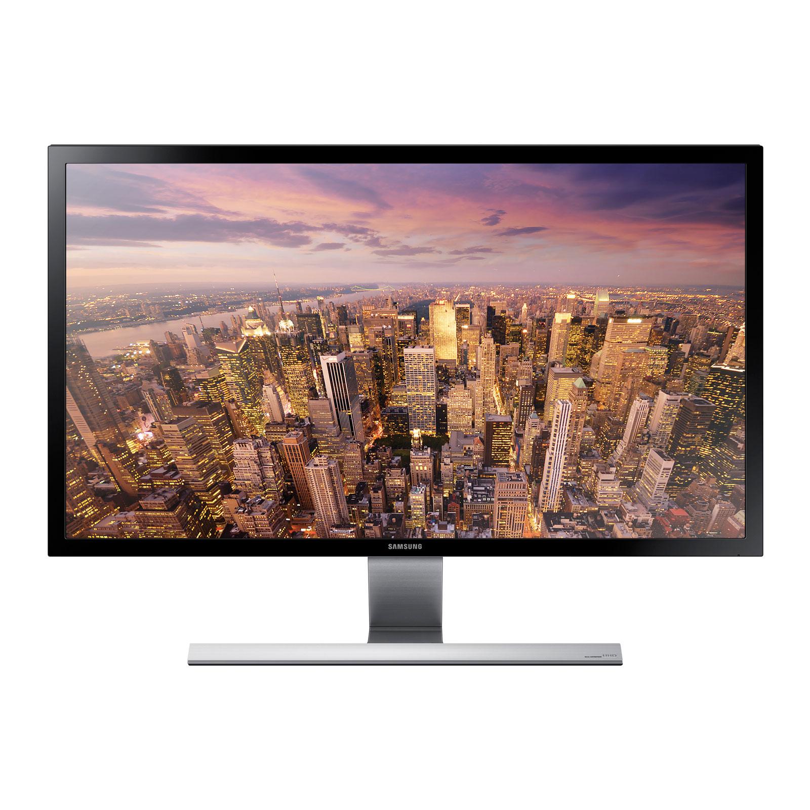 """Ecran PC Samsung 28"""" LED - U28D590D 3840 x 2160 pixels - 1 ms - Format large 16/9 - Displayport - 2x HDMI - Noir"""