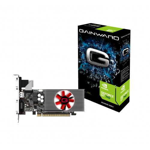 "Carte graphique Gainward GeForce GT 740 2048MB ""one-slot cooler"" 2 Go HDMI/DVI - PCI Express (NVIDIA GeForce avec CUDA GT 740)"