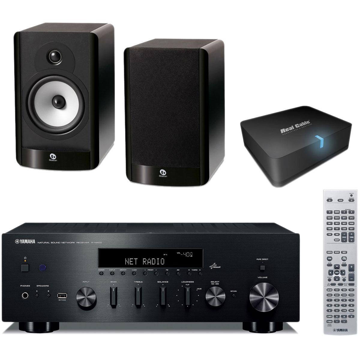 Yamaha r n500 noir boston a 26 noir real cable iplug btr yamaha r n500 n - Adaptateur bluetooth home cinema ...