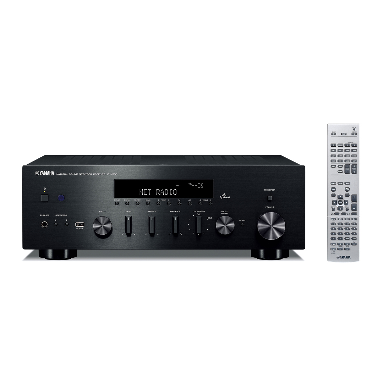 Yamaha r n500 noir boston a 26 noir real cable iplug btr ensemble hifi - Adaptateur bluetooth home cinema ...