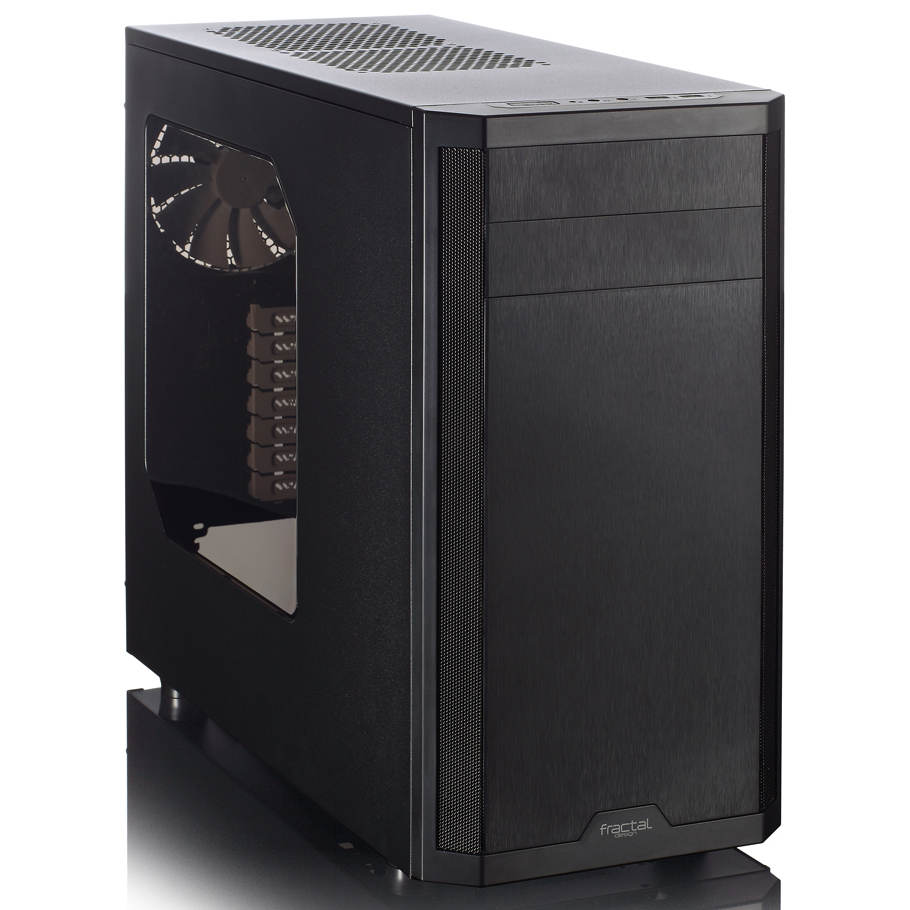 Boîtier PC Fractal Design Core 3500-Window Boîtier Moyen Tour avec fenêtre Noir