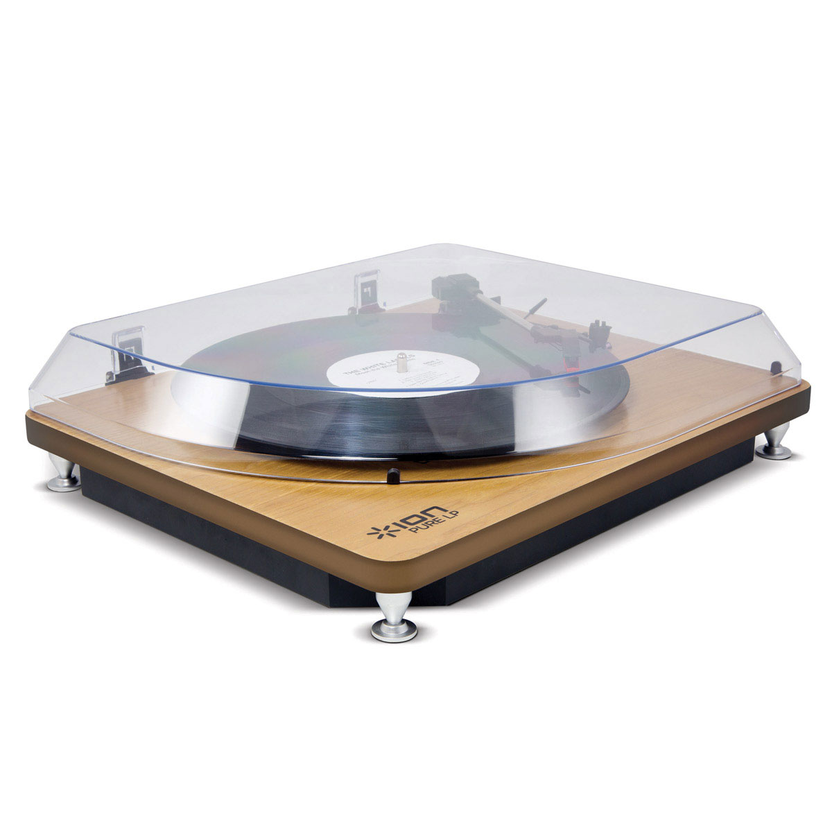 ion audio pure lp wood ion purelp wd achat vente. Black Bedroom Furniture Sets. Home Design Ideas