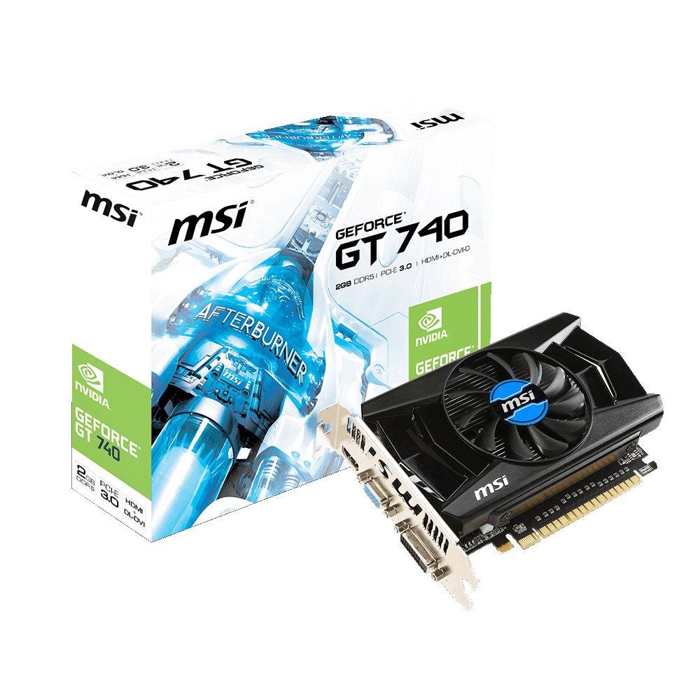 Carte graphique MSI GeForce GT 740 N740-2GD5 2 Go HDMI/DVI - PCI Express (NVIDIA GeForce avec CUDA GT 740)