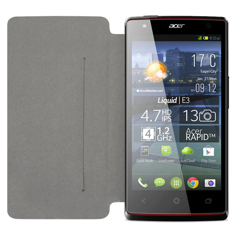 Etui téléphone Swiss Charger Etui Folio Slim Noir Acer Liquid E3 Duo Etui de protection pour Acer Liquid E3 Duo