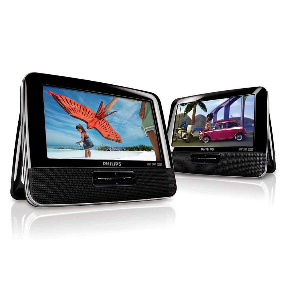 """LDLC.com Philips PD7042 Lecteur DVD/DivX 7"""" Portable à double écran"""