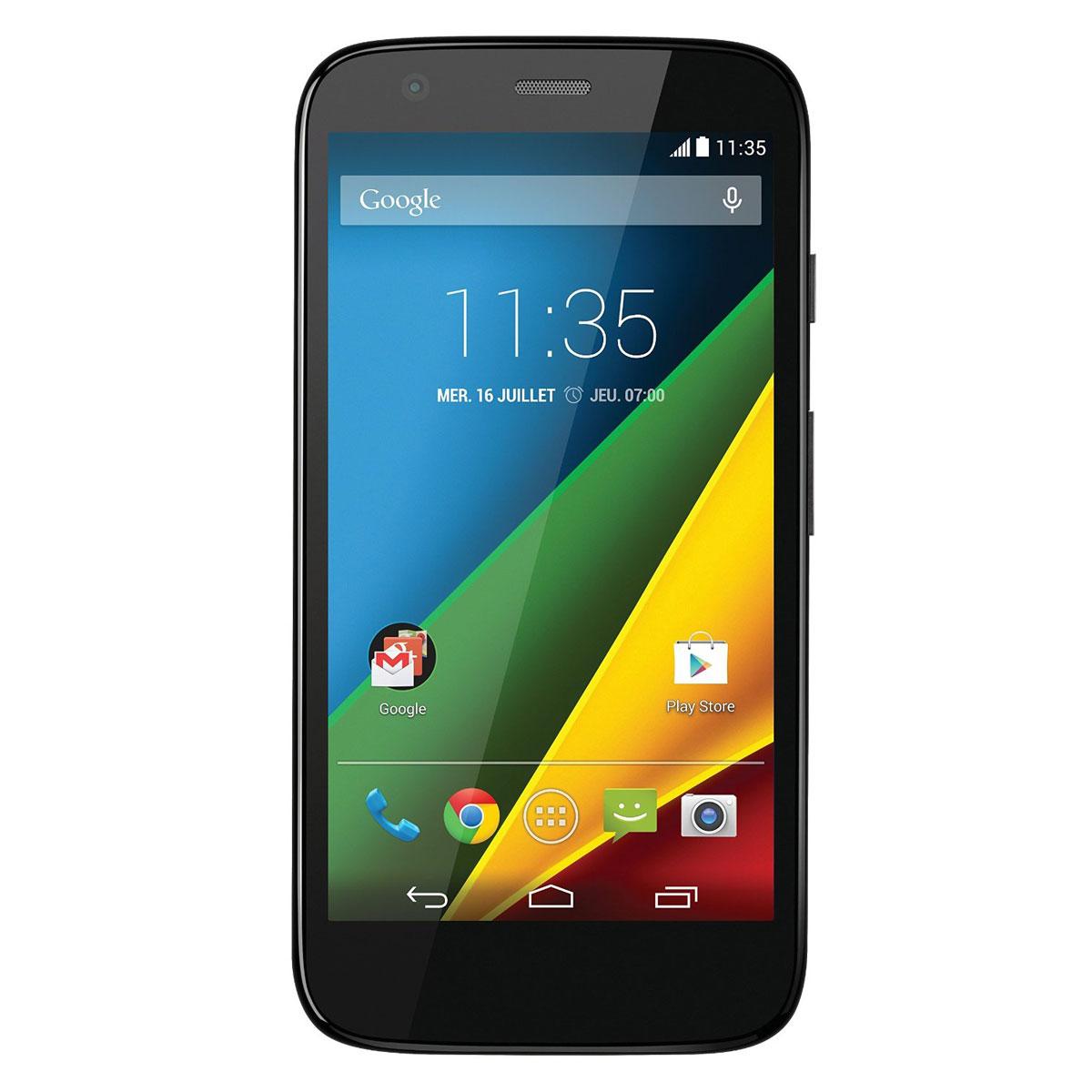 """Mobile & smartphone Motorola Moto G 4G 8 Go Noir Smartphone 4G-LTE avec écran tactile HD 4.5"""" sous Android 4.4"""