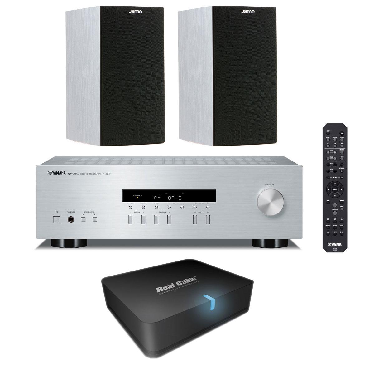 Yamaha r s201 argent jamo s 622 white ash real cable iplug btr ensemble - Adaptateur bluetooth home cinema ...