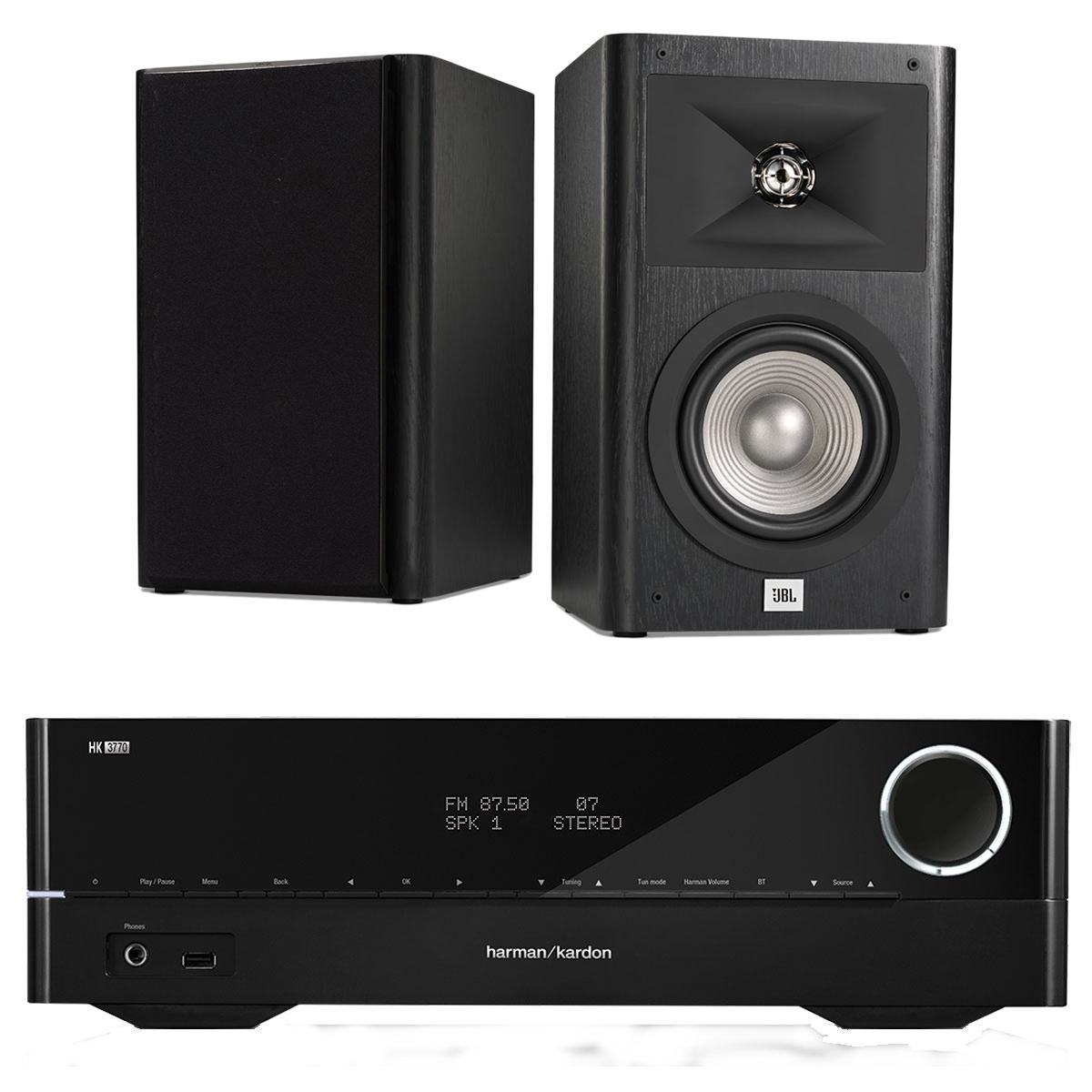 Ensemble Hifi Harman Kardon HK3770 + JBL Studio 230 Noir Ampli-tuner stéréo 240 Watts Bluetooth DLNA et USB + Enceinte bibliothèque 2 voies 16.5 cm (par paire)