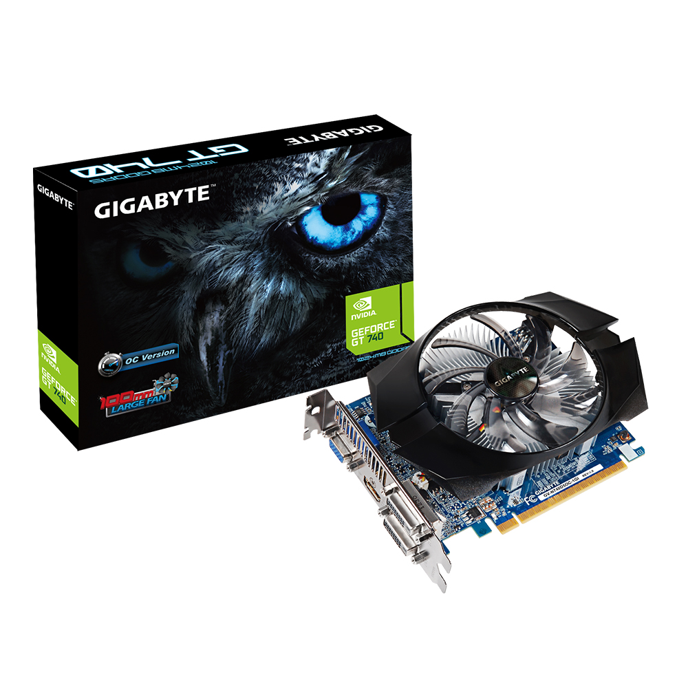 Carte graphique Gigabyte GeForce GT 740 GV-N740D5OC-1GI 1 Go HDMI/Dual DVI - PCI Express (NVIDIA GeForce avec CUDA GT 740)