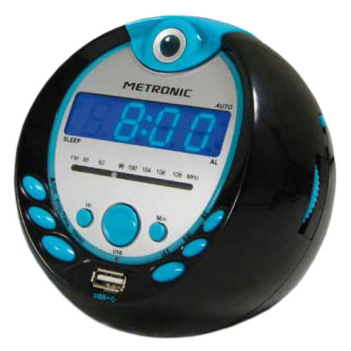 Metronic radio r veil sportsman radio radio r veil - Reveil avec projection de l heure au plafond ...