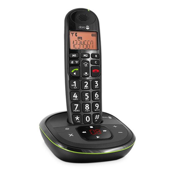 Téléphone sans fil Doro PhoneEasy 105wr Noir Téléphone DECT sans fil (version française)
