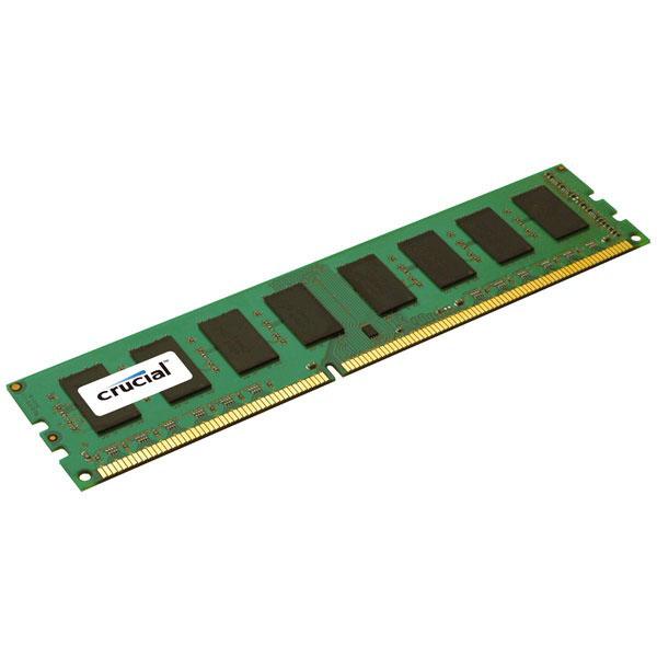 Mémoire PC Crucial DDR3 8 Go 1600 MHz ECC CL11 RAM DDR3 ECC PC12800 - CT102472BA160B (garantie à vie par Crucial)