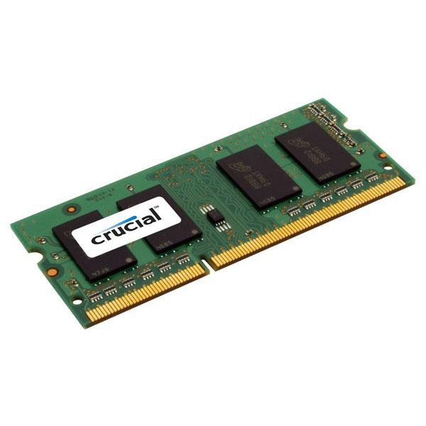 Mémoire PC portable Crucial SO-DIMM 4 Go DDR3L 1866 MHz CL13 RAM SO-DIMM DDR3 PC3-14900 - CT51264BF186DJ (garantie à vie par Crucial)