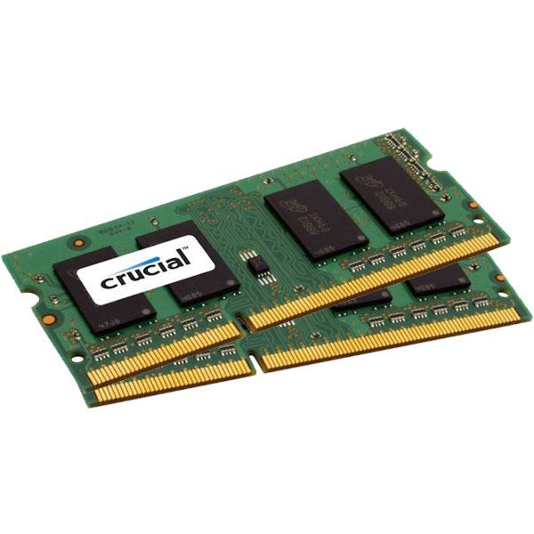 Mémoire PC portable Crucial SO-DIMM 4 Go (2 x 2 Go) DDR3L 1600 MHz CL11 Kit Dual Channel RAM SO-DIMM DDR3 PC3-12800 - CT2KIT25664BF160BJ (garantie à vie par Crucial)