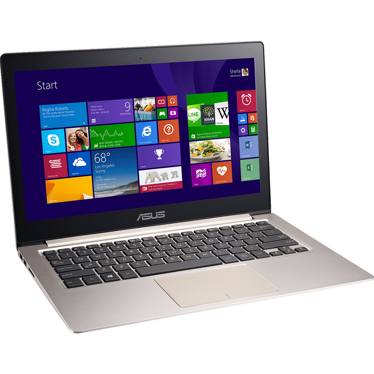 "PC portable ASUS Zenbook UX303LN-R4200H Intel Core i7-4510U 8 Go 500 Go 13.3"" LED NVIDIA GeForce 840M Wi-Fi N/Bluetooth Webcam Windows 8.1 64 bits (garantie constructeur 1 an)"