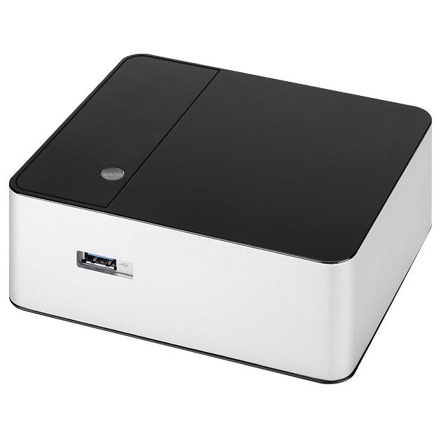 Boîtier PC Chenbro Cubicom 200 Boîtier pour Intel NUC avec adaptateur secteur 65W