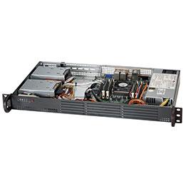 Boîtier PC SuperMicro SuperChassis 504-203B Boîtier rack Mini 1U Noir avec alimentation 200W 80PLUS Gold