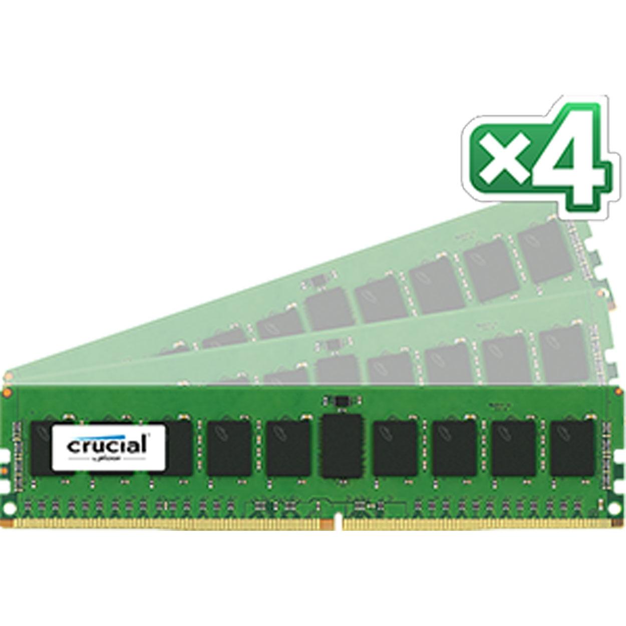 Mémoire PC Crucial DDR4 32 Go (4 x 8 Go) 2133 MHz CL15 ECC Registered SR X4 Kit Quad Channel RAM DDR4 PC4-17000 - CT4K8G4RFS4213 (garantie 10 ans par Crucial)
