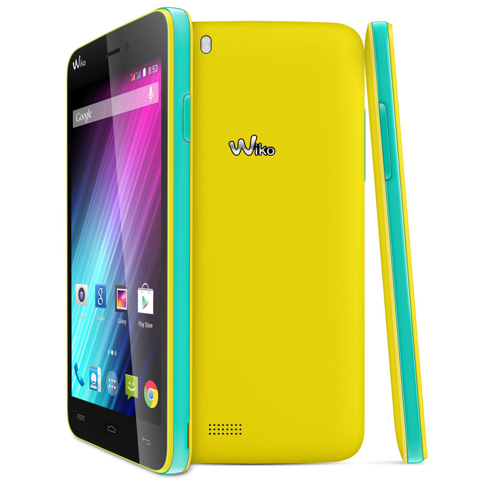 """Mobile & smartphone Wiko Lenny Jaune Smartphone 3G+ Dual SIM avec écran tactile 5"""" sous Android 4.4"""