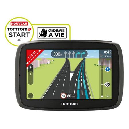 "GPS TomTom START 40 GPS 45 pays d'Europe Ecran 4,3"" et cartographie à vie"