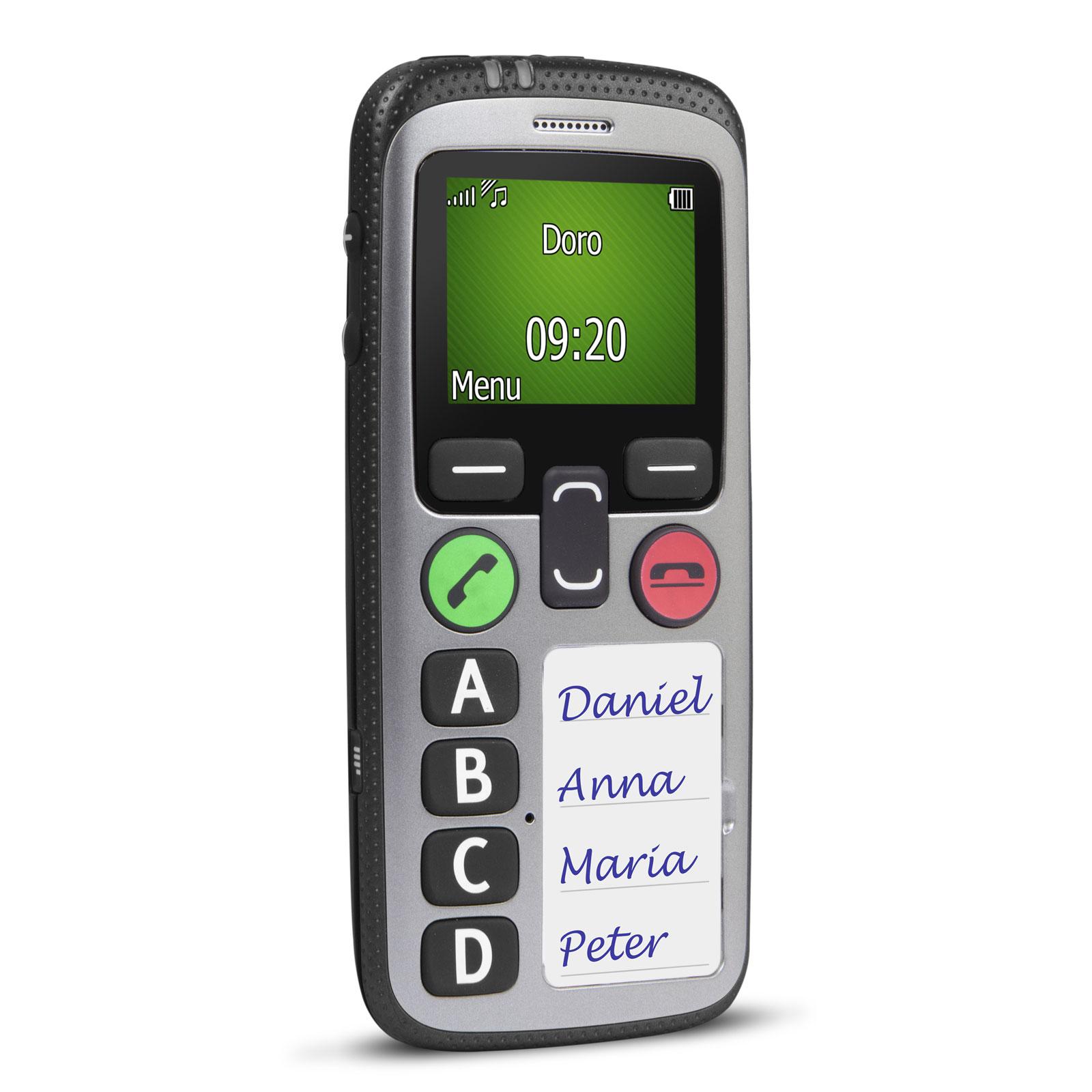"""Mobile & smartphone Doro Secure 580 IUP Noir/Argent Téléphone 3G IP54 Grosses touches - Ecran 2.4"""" 128 x 160 - Bluetooth 2.1 - 800 mAh"""