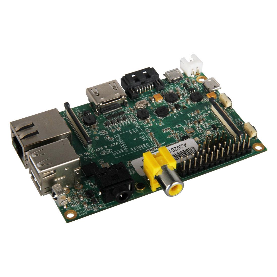 Carte mère Banana Pi M1 Carte mère avec processeur ARM Cortex A7 Dual-Core 1 GHz - RAM 1024 Mo - GPU ARM Mali400MP2 - RJ45 - HDMI - 2x USB 2.0 - SATA
