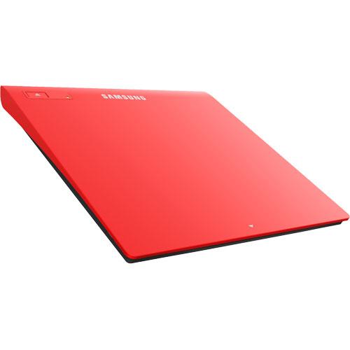 Lecteur graveur Samsung SE-208GB Rouge Graveur DVD(+/-)RW/RAM 8/8/8/6/5x DL(+/-) 6/6x CD-RW 24/24/24x Rouge Externe Slim - USB 2.0