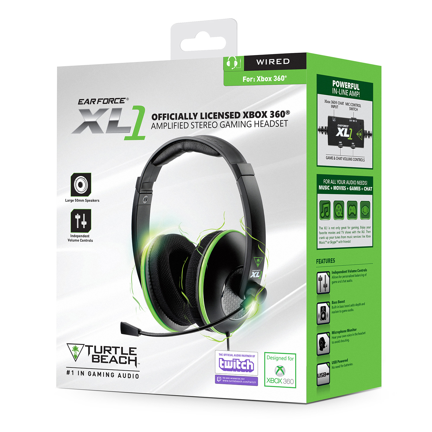Turtle Beach Ear Force Xl1 Microsoft Xbox 360