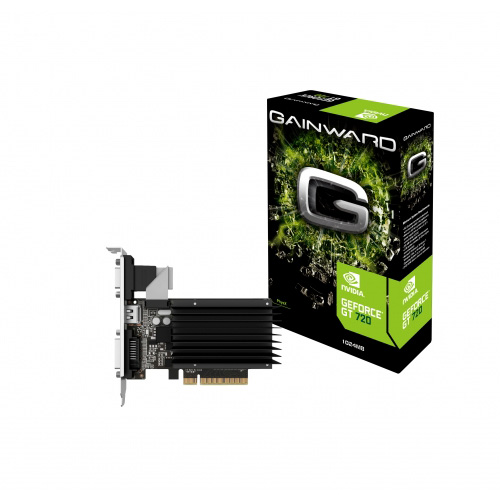 Carte graphique Gainward GeForce GT 720 1 GB SilentFX 1 Go HDMI/DVI - PCI Express (NVIDIA GeForce avec CUDA GT 720)