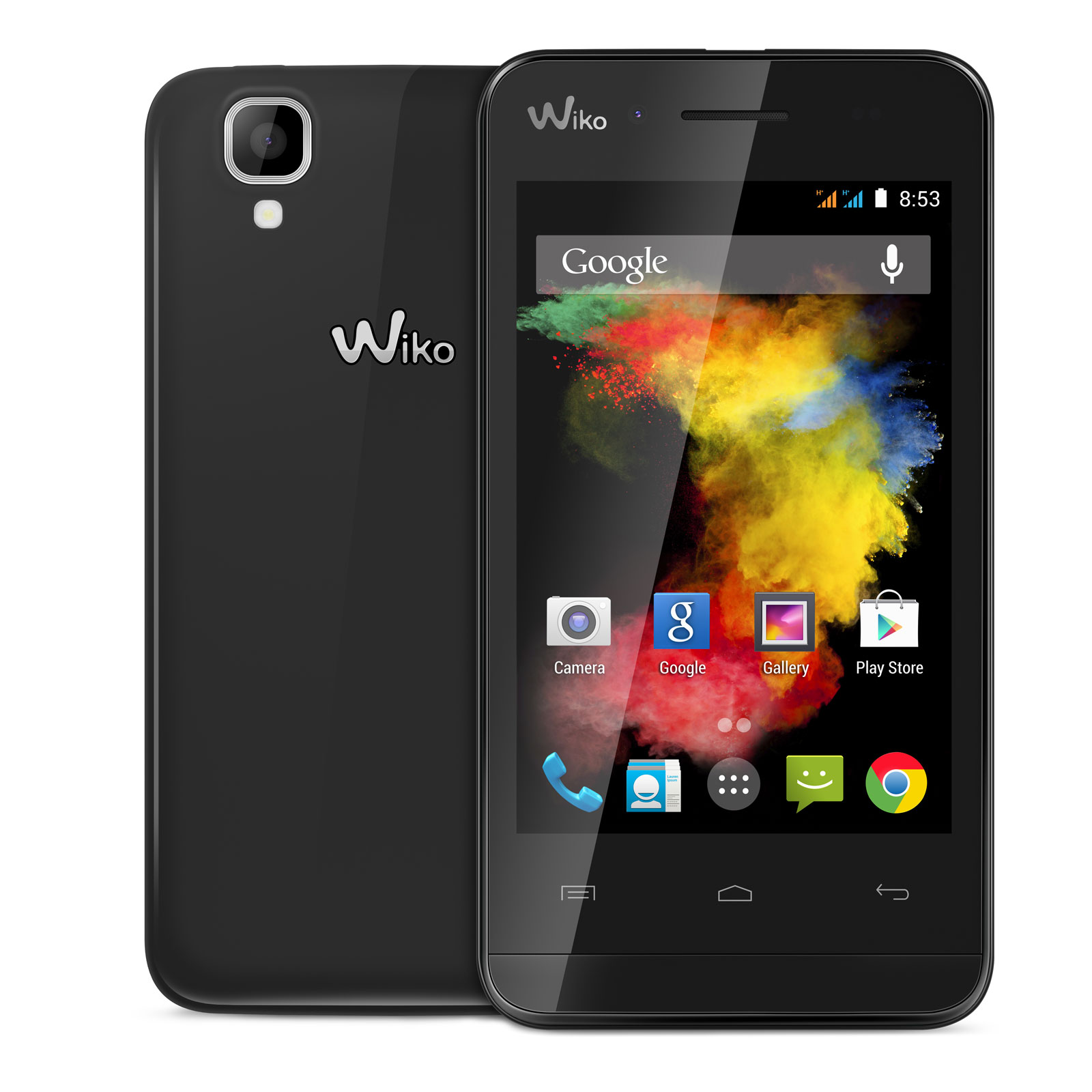 wiko goa noir goa black achat vente mobile smartphone sur. Black Bedroom Furniture Sets. Home Design Ideas