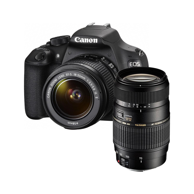 Appareil photo Reflex Canon EOS 1200D + Objectif EF-S 18-55mm IS II + Tamron AF 70-300mm F/4-5,6 Reflex Numérique 18 MP - Ecran LCD 7.5 cm - Vidéo Full HD + objectif EF-S 18-55mm f/3.5-5.6 IS II + Télézoom compact