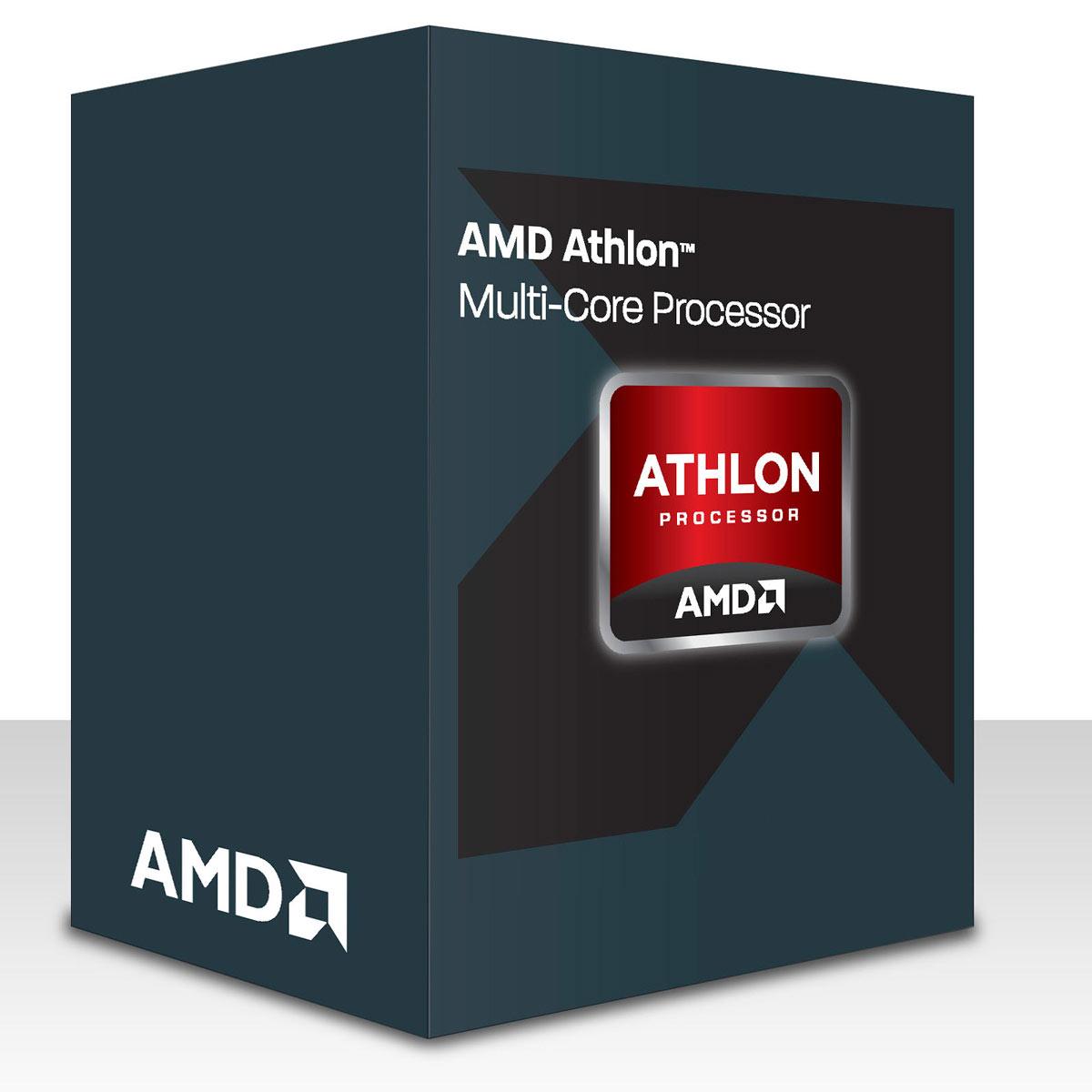 Processeur AMD Athlon X4 840 (3.1 GHz)  Processeur Quad Core Socket FM2+ 0.028 micron Cache L2 4 Mo (version boîte - garantie constructeur 3 ans)