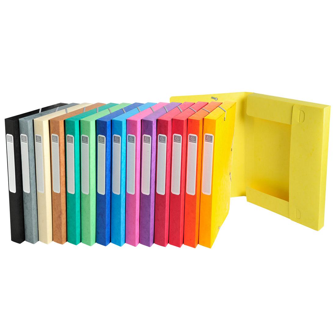 exacompta boites de classement cartobox dos 25 mm assortis x 25 bo te de classement exacompta. Black Bedroom Furniture Sets. Home Design Ideas