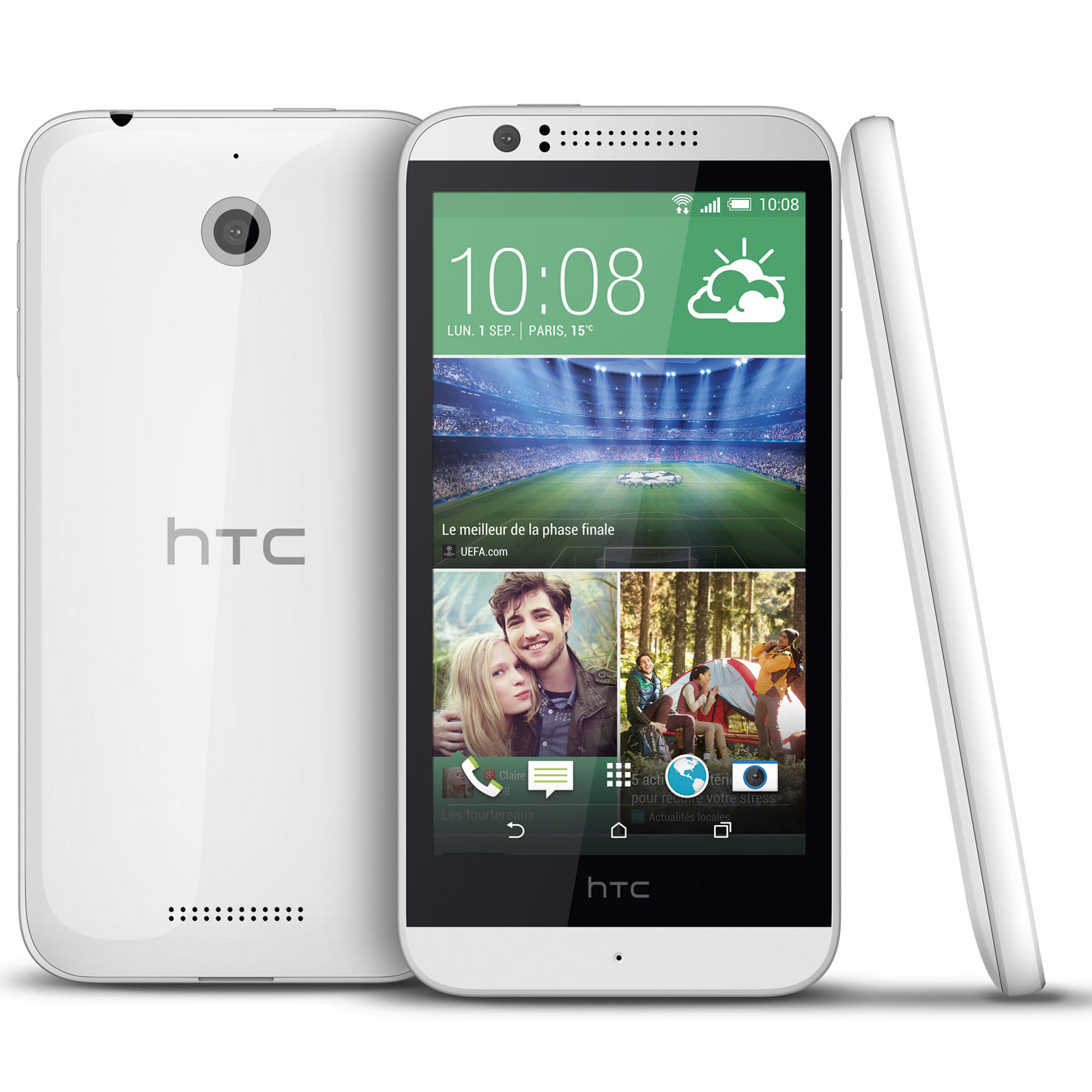 Htc desire 510 blanc mobile smartphone htc sur ldlc for Photo ecran android 7