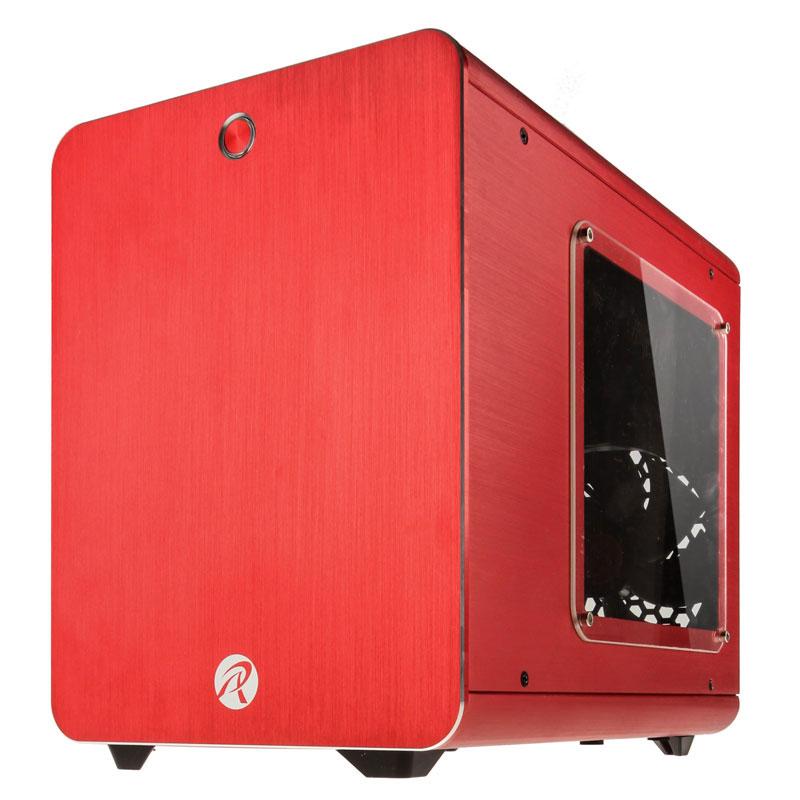 Boîtier PC Raijintek Metis Window (rouge) Boîtier mini tour avec fenêtre latérale