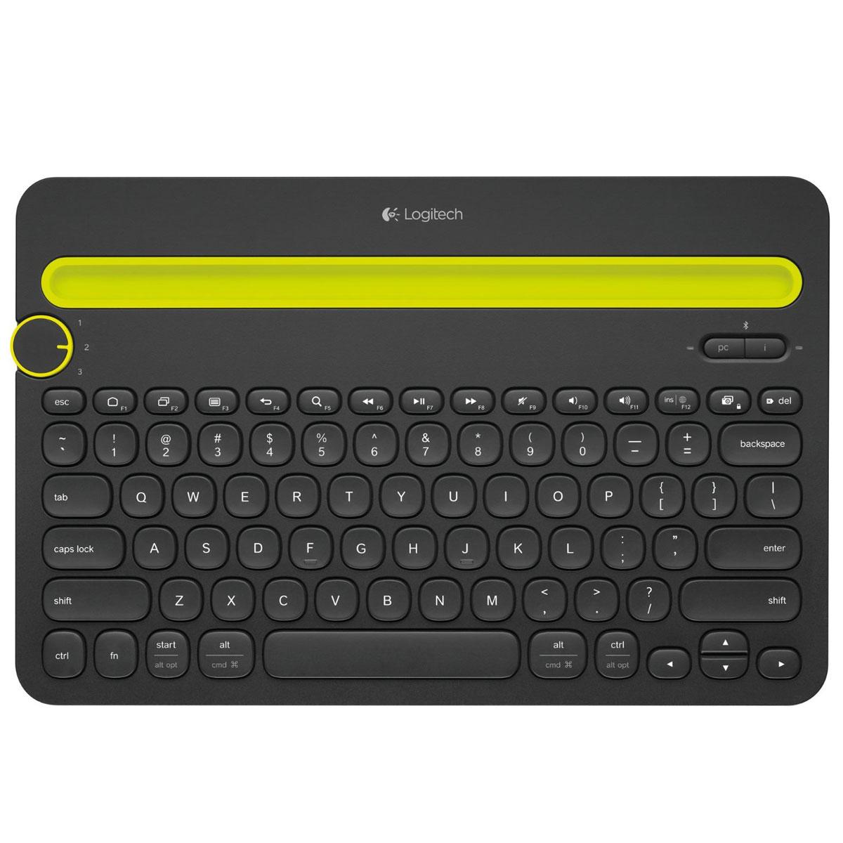 Accessoires Tablette Logitech Multi-Device Keyboard K480 Noir Clavier Bluetooth pour ordinateur, tablette et smartphone (AZERTY, Français)
