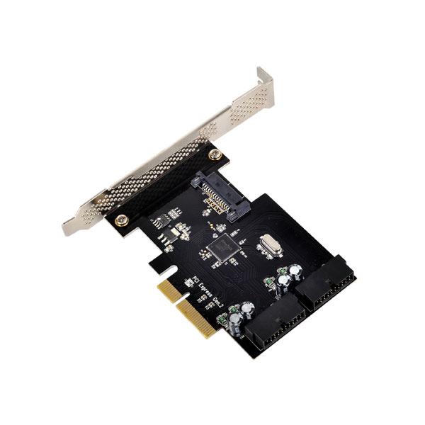 Carte contrôleur Silverstone ECU01 Carte contrôleur PCI Express 2.0 4x (fonctionnement en 2x) avec 2 ports internes USB 3.0