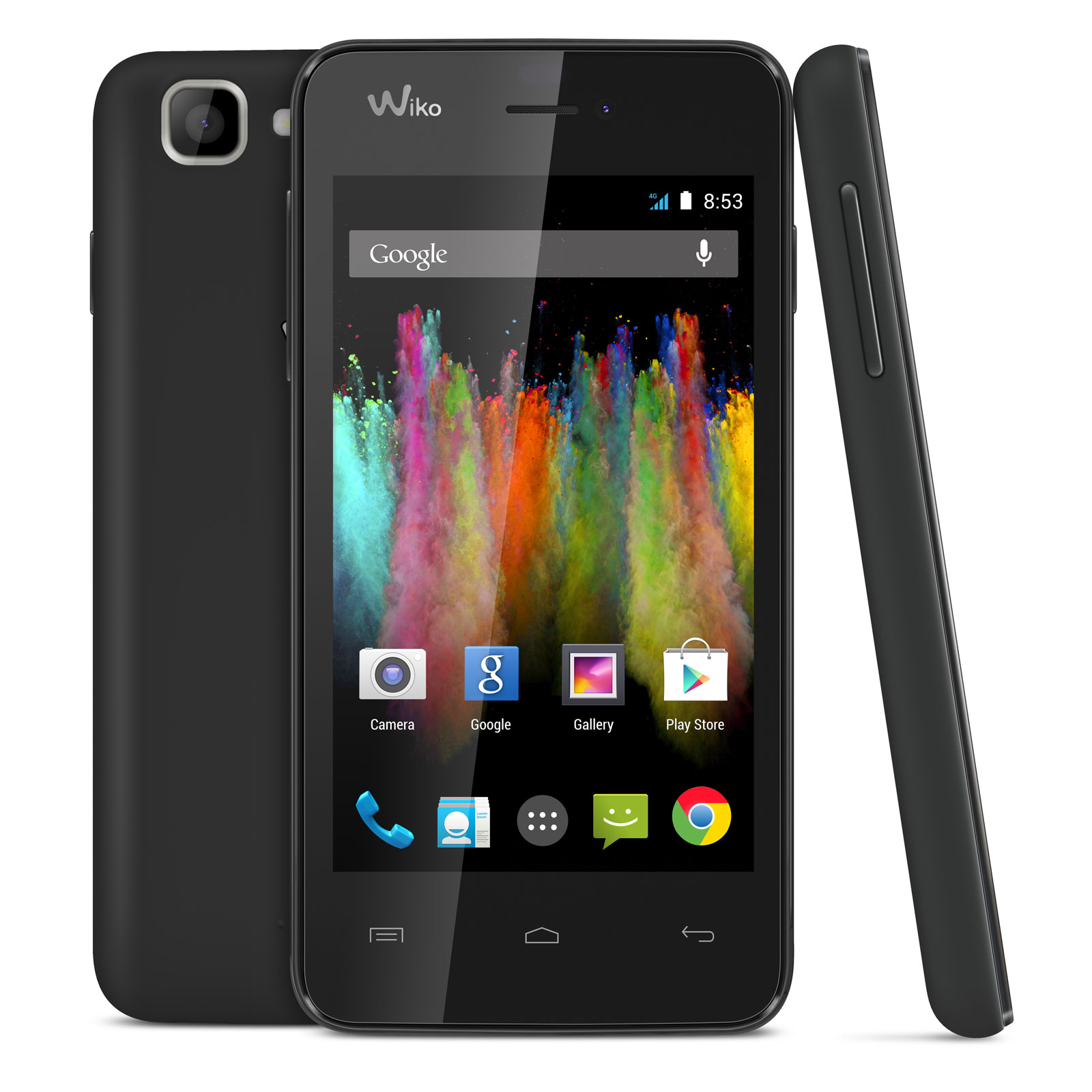 """Mobile & smartphone Wiko Kite Noir Smartphone 4G-LTE avec écran tactile 4"""" sous Android 4.4"""