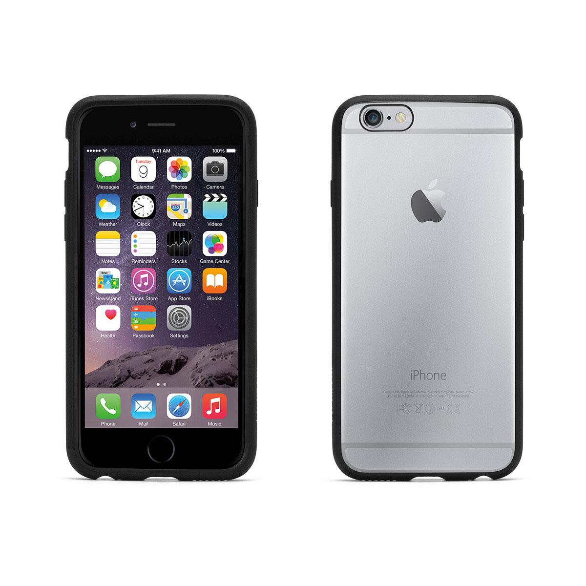 Etui téléphone Griffin Reveal Noir/Transparent Apple iPhone 6/6s Coque de protection pour iPhone 6/6s