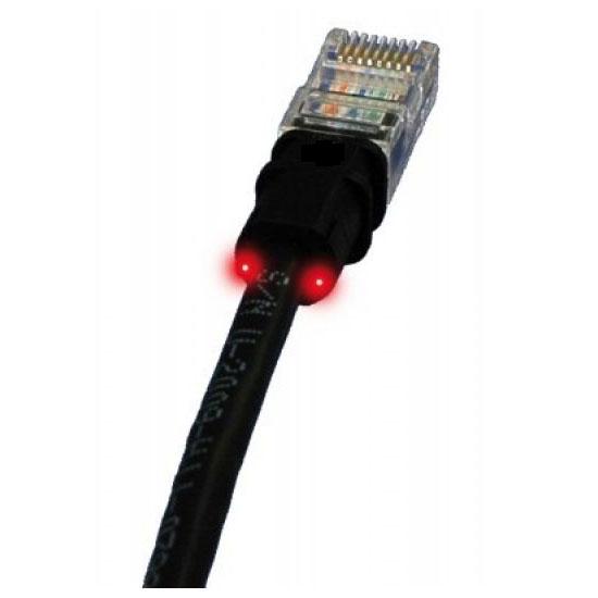 Câble RJ45 PatchSee câble RJ45 catégorie 5e F/UTP (0.6 mètre) Cordon ethernet blindé avec système de repérage lumineux