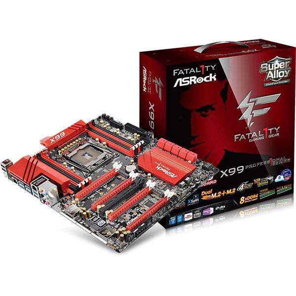 Carte mère ASRock Fatal1ty X99 Professional Carte mère E-ATX Socket 2011-3 Intel X99 Express - DDR4 - SATA 6Gb/s - M.2 - USB 3.0 - 5x PCI-Express 3.0 16x