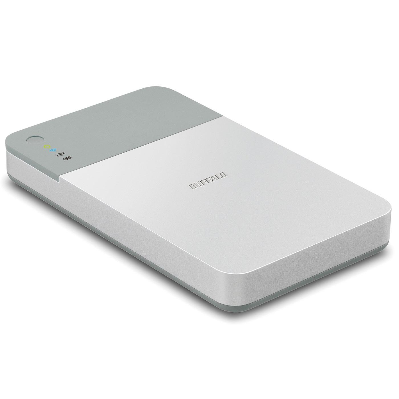 Disque dur externe Buffalo MiniStation Air 2 - 1 To Disque dur portable USB 3.0 avec partage Wi-Fi sur iOS et Android