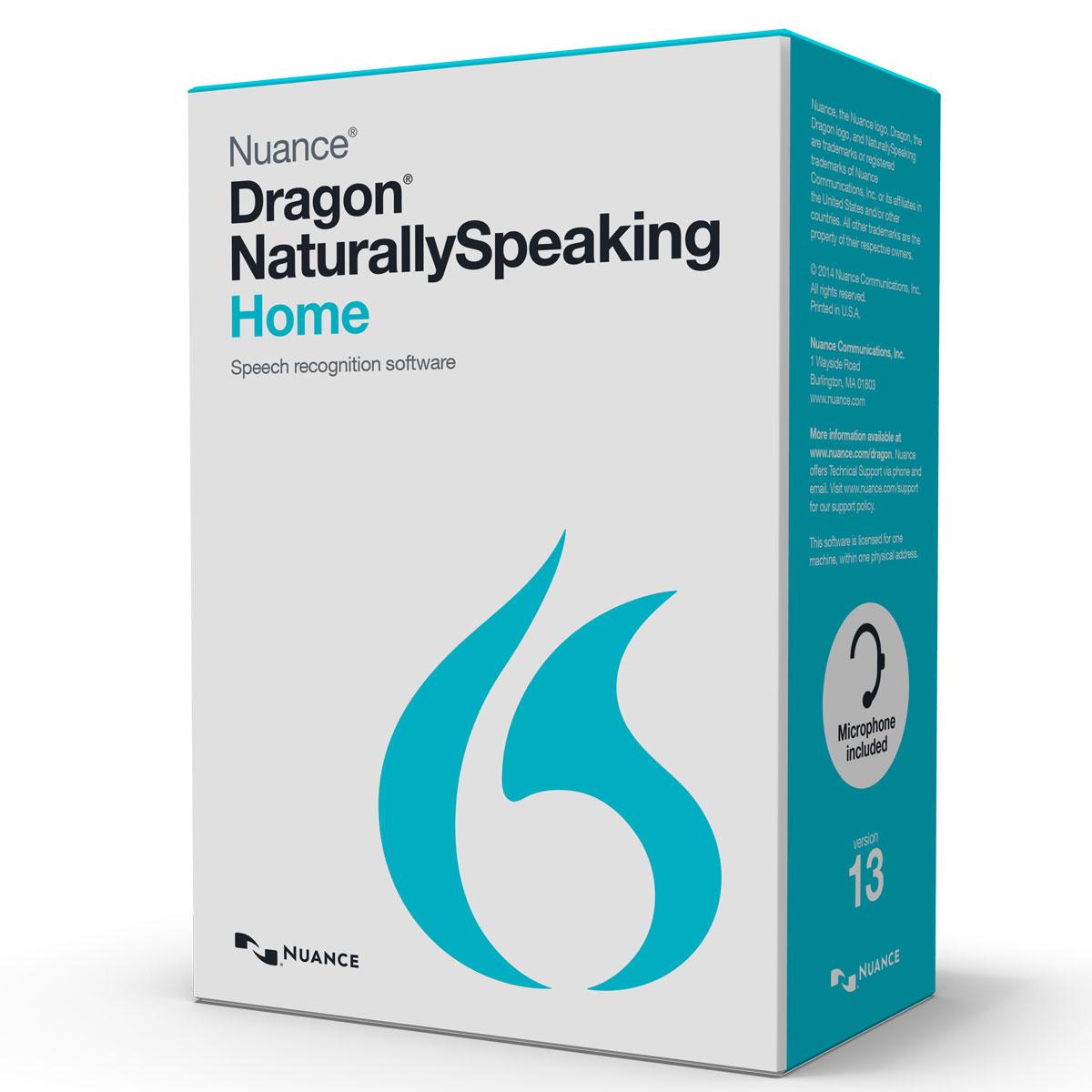 nuance dragon naturallyspeaking 13 home fran ais windows logiciel reconnaissance vocale. Black Bedroom Furniture Sets. Home Design Ideas