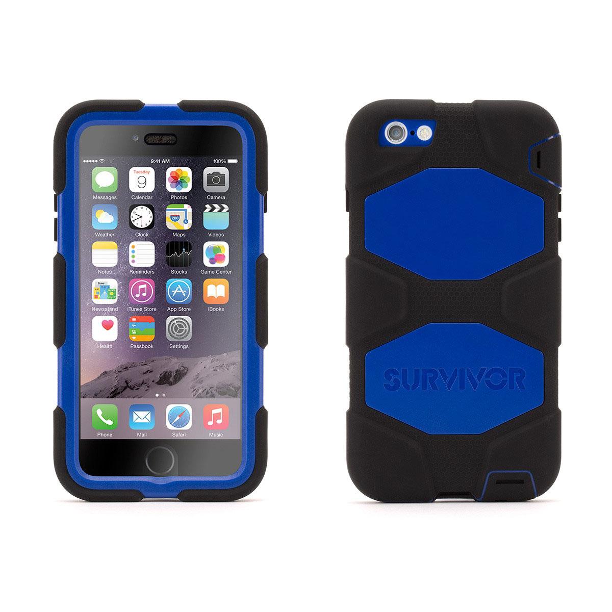 Etui téléphone Griffin Survivor All Terrain Bleu/Noir Apple iPhone 6 Plus Coque ultra-résistante pour iPhone 6 Plus