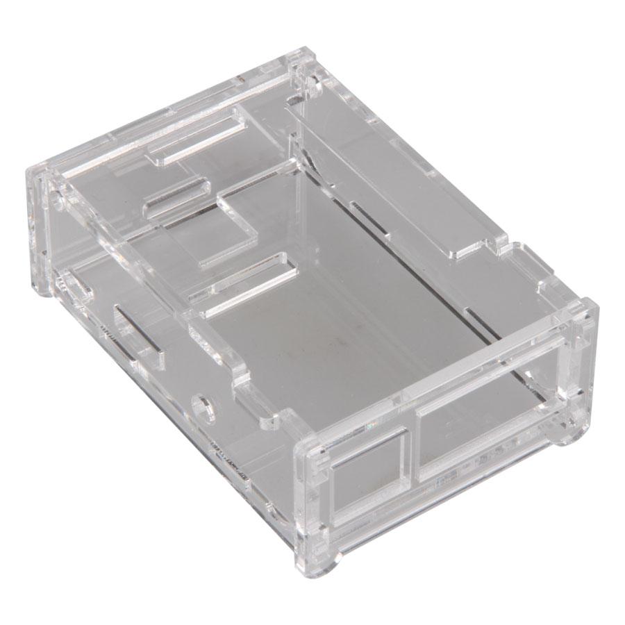 Boîtier PC JOY-iT boîtier pour Raspberry Pi (transparent) Boîtier en plastique (compatible Raspberry Model B+)