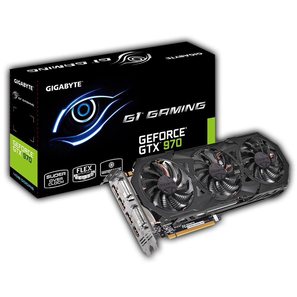 Carte graphique Gigabyte GV-N970G1 GAMING-4GD - GeForce GTX 970 4 GB 4096 Mo Dual DVI/HDMI/Tri DisplayPort - PCI Express (NVIDIA GeForce avec CUDA GTX 970)